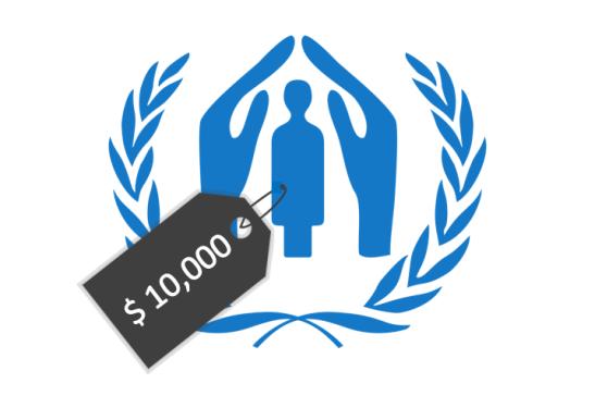 coste de un refugiado