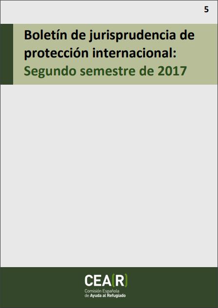 Boletín de jurisprudencia de protección internacional